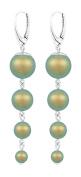 ARLIZI earrings 925 silver green pearls 1342