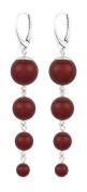 ARLIZI earrings 925 silver red pearls 1340