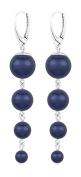 ARLIZI earrings 925 silver blue pearls 1337