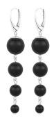 ARLIZI earrings 925 silver black pearls 1332