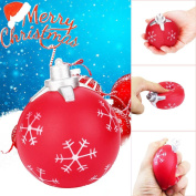 Toamen Cute 9cm Christmas Ball Cream Squishies Toy Slow Rising Relieves Stress Soft Toy for Children and Adult Toy gift, Celebrate Xmas