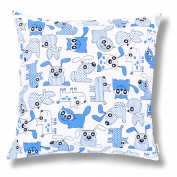 Ami Lian® Filled Cushion Decorative Cushion 80 x 80 cm for Dogs and Cats Blue