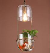 PIGE Scandinavian Simple Restaurant Plant Creative Personality Single - Aisle Corridor Balcony Cafe Bedside Glass Chandeliers