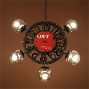 PIGE Nordic Retro Creative Clock Magic Beans Ornaments Living Room Dining Clothing Industry Personality Style Chandelier