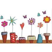 Sticker Wall Window and Flower Pots For Children's Bedrooms Babyphone guarderias Open Buy Receivers