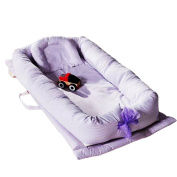 MJTP Portable Newborn Baby Toddler Foldable Beds with A Baby Pillow Simulating Mother's Uterus Environment Bed