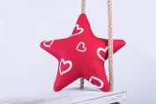 Ami Lian® Cushion Star Valentine Decorative Cushion Cosy Fluffy, 28 cm