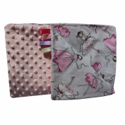 Minky Crawling Blanket/Baby Blanket Super Soft and Fluffy Handmade Ballerina Stars