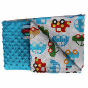 Minky Crawling Blanket/Baby Blanket Super Soft and Fluffy Handmade Stars