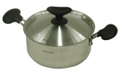 Both hands pan 18 cm with pan lid IH compatible fluorine processing Both Handle Pan