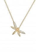 Elli Women 925 Silver Silver Round Crystal Pendant Necklace