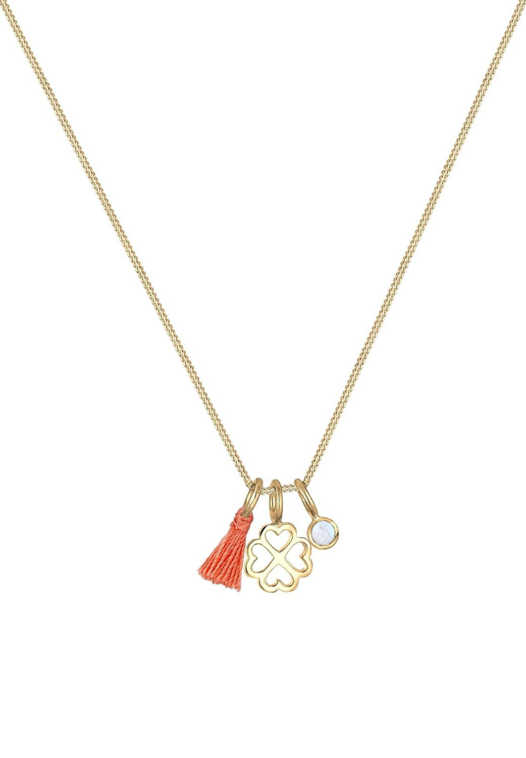 KnSam Women Gold Plate Chain Necklaces Plant Gold Novelty Necklace