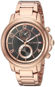 Tommy Hilfiger Women's 'SOPHISTICATED SPORT' Quartz and Stainless-Steel-Plated Casual Watch, Colour:Rose Gold-Toned (Model