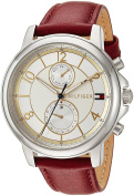 Tommy Hilfiger Women's 'SOPHISTICATED SPORT' Quartz Stainless Steel and Leather Casual Watch, Colour:Red (Model