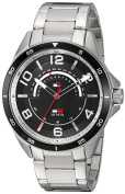 Tommy Hilfiger Men's 'SPORT' Quartz Stainless Steel Casual Watch, Colour:Silver-Toned (Model
