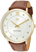 Tommy Hilfiger Women's 'SOPHISTICATED SPORT' Quartz Gold-Tone and Leather Casual Watch, Colour:Red (Model