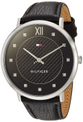 Tommy Hilfiger Women's 'SOPHISTICATED SPORT' Quartz Gold-Tone and Leather Casual Watch, Colour:Black (Model