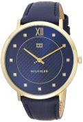 Tommy Hilfiger Women's 'SOPHISTICATED SPORT' Quartz Gold-Tone and Leather Casual Watch, Colour:Blue (Model