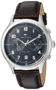 Tommy Hilfiger Men's 'SPORT' Quartz Stainless Steel and Leather Casual Watch, Colour:Brown (Model