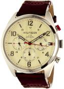 Tommy Hilfiger Men's Corbin 1791208 Silver Leather Quartz Watch