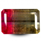 6.52 ct Octagon Cut (14 x 9 mm) Brazilian Watermelon Colour Watermelon Tourmaline Natural Gemstone