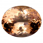 7.43 ct GSL Certified Oval Cut (11 x 14 mm) Brazilian Natural Morganite Loose Gemstone