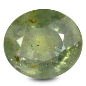 2.20 ct HKD Certified Oval Shape (8 x 7 mm) Green Sapphire Natural Gemstone