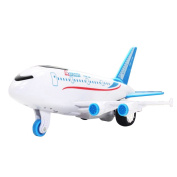GZQ Aeroplane Airbus Toy Model with Light and Sound Bump and Go Action