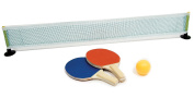 Invero® Desktop Tabletop Table Tennis - Fun Novelty Gift or Office Fun Includes 2x Paddles, Ping Pong Ball and a Table Tennis Net with Standing Poles