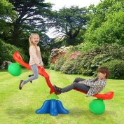 Costway 2 Kids Seesaw Children Toddler 360 Degree Rotating Teeter Totters Playground Child Indoor/Outdoor