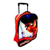 Children's Large Miraculous Ladybug Budget Fold Up Trolley Bag - Cabin Bag