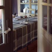 Garnier-Thiebaut Tablecloth, COTTON, cendre, 180 x 180 cm