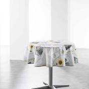 Douceur d 'Intérieur Small Garden Printed Tablecloth Round Polyester 180 x 180 cm Multi-Coloured