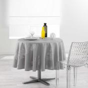 Douceur d 'Intérieur Round Table Cloth, Polyester, grey, 180 x 180 cm