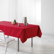 Douceur d 'Intérieur Rectangular Tablecloth, Polyester, red, 250 x 140 cm