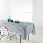 Douceur d 'Intérieur Rectangular Tablecloth, Polyester, blue, 200 x 150 cm