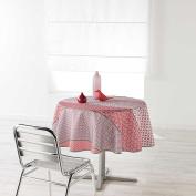 Douceur d 'Intérieur Round Table Cloth, Polyester, pink, 180 x 180 cm