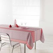 Douceur d 'Intérieur Rectangular Tablecloth, Polyester, pink, 200 x 150 cm