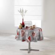Douceur d 'Intérieur Round Table Cloth, Polyester, multicoloured, 180 x 180 cm