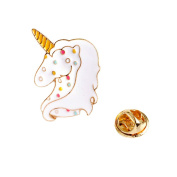 Cartoon Unicorn Brooch Pin Animal Jewellery for Women Lapel Pins Scarf Accessories