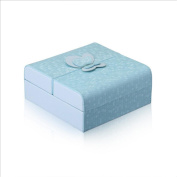 YiMu Jewellery Box with Ballerina F¨¹r Elise 15x15x6.5cm,White Blue , Blue
