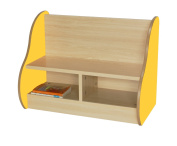 Mobeduc Bench for 2 Children, Wood, Yellow, 70 x 54 x 40 cm