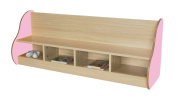 Mobeduc Bench for 4 Children, Wood, Pink, 138 x 54 x 40 cm