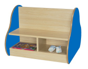 Mobeduc Double Sided Bench for 4 Children, Wood, Dark Blue, 70 x 54 x 66 cm