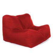 Great Bean Bags Layz Bean Bag Chair, Fabric, Red, 61 x 61 x 68 cm