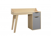 Birlea Kingston Study Desk, Wood, Beech and Grey, 43 x 119 x 90 cm