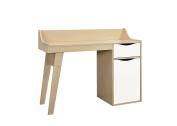 Birlea Kingston Study Desk, Wood, Beech and White, 43 x 119 x 90 cm