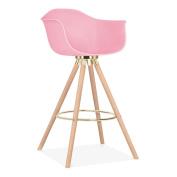 Cult Design Moda Bar Stool with Armrest CD2 - Candy Pink
