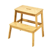 The Urban Port Natural Styled Bamboo Stool