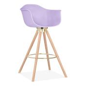 Cult Design Moda Bar Stool with Armrest CD2 - Lavender